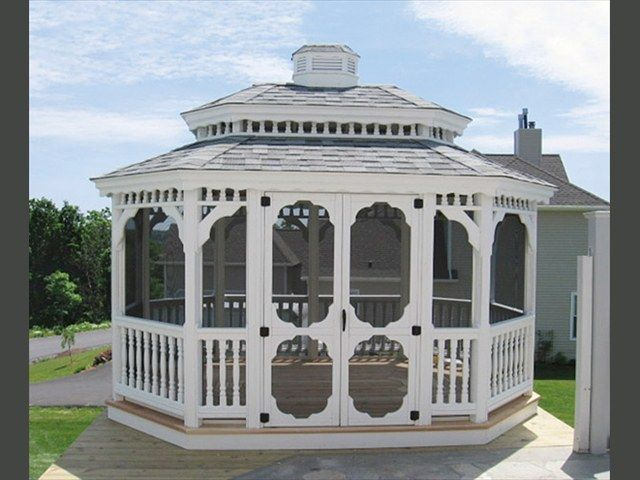 Wood Oval Gazebo 1
