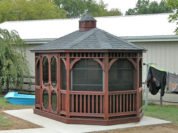 Wood Oval Gazebo 2