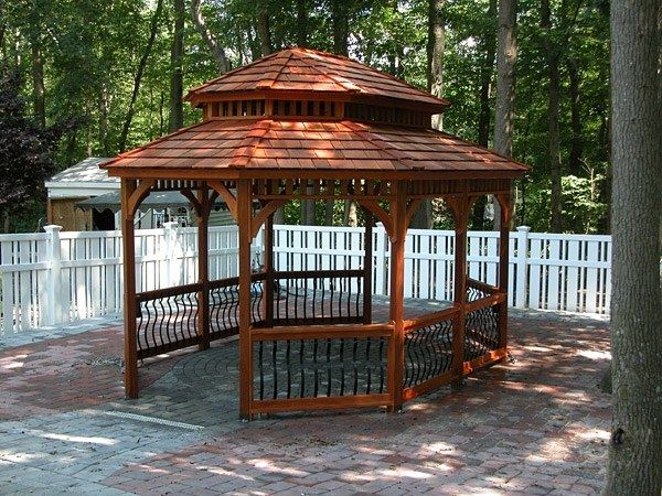 Wood Oval Gazebo 3