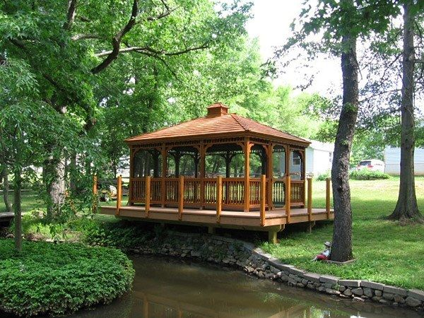 Wood Rectangle Gazebo 3