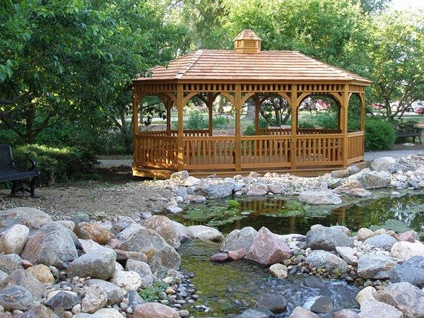 Wood Oval Gazebo 4