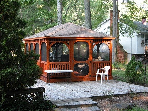 Wood Rectangle Gazebo 4