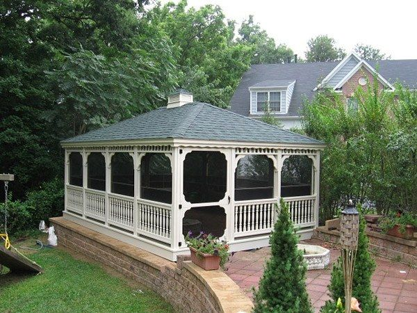 Wood Rectangle Gazebo 5