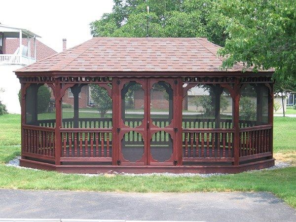 Wood Oval Gazebo 5