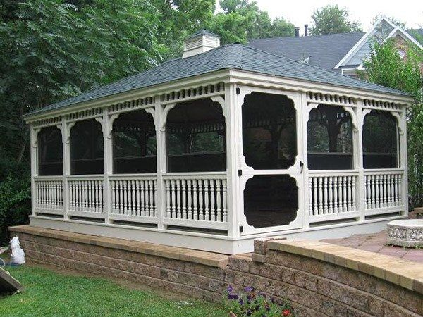 Wood Rectangle Gazebo 6