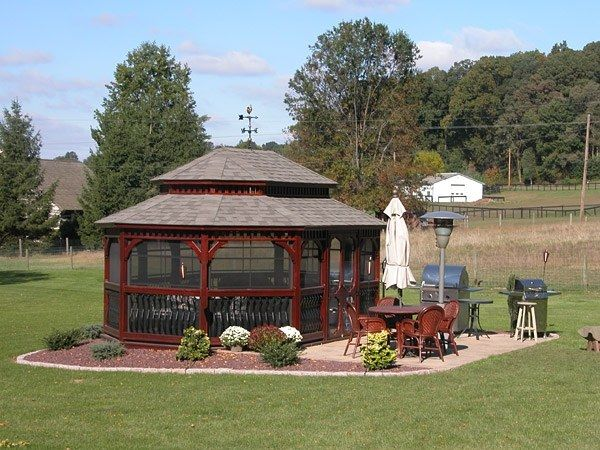 Wood Oval Gazebo 6