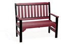 Englishgarden-bench-red-black